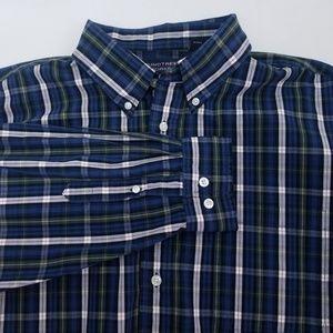 Roundtree & Yorke Men's Blue Plaid Shirt